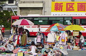 大阪枚方霊苑のフリーマーケット